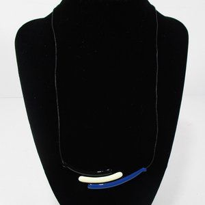 💕3 For 15💕 Black White Blue Necklace